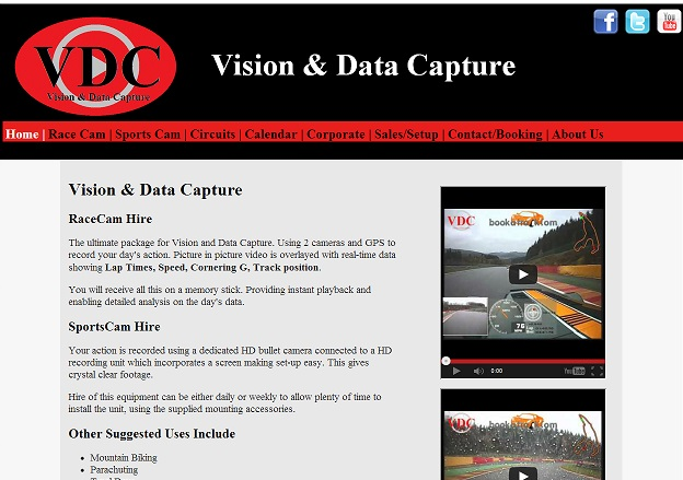 Vision Data Capture web site build by Darlington Design
